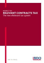 Relevant contRacts tax - BDO