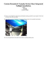 Custom Dynamics Can Am Spyder RS GEN2 Brake Light Flasher MAGIC-STROBES-RS New!