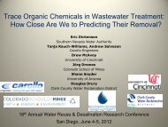 How Close Are We to Predicting Their Removal? - WateReuse ...