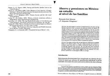 Ahorro y pensiones en México: un estudio al nivel de las familias