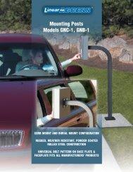 Mounting Posts Models GNC-1, GNB-1 - Linear