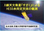 X線天文衛星「すざく」による HESS未同定天体の観測