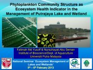 Phytoplankton as an indicator of water quality health status
