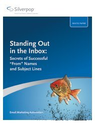 "Silverpop White Paper ""Standing Out"" - H+W CONSULT GmbH"