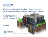 Presentation by: Eric P. Loewen Ph.D. - Berkeley Nuclear Research ...