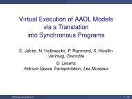 Virtual Execution of AADL Models via a Translation into ...