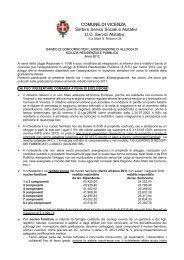 Bando Edilizia Residenziale Pubblica - Comune di Vicenza