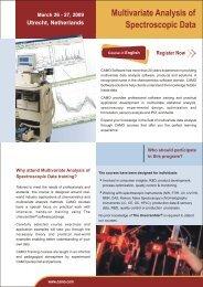 Training on Multivariate Analysis of Spectroscopic ... - Camo