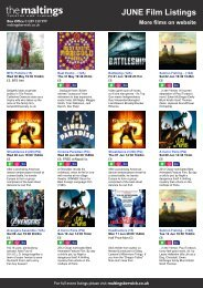 JUNE Film Listings More films on website - The Maltings