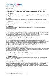 Informationen / Weisungen zum Tag der Jugend am 20. Juni 2010