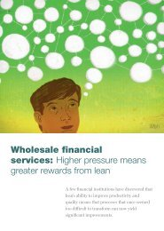 Wholesale financial services - McKinsey & Company