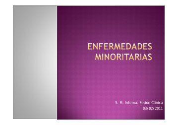 Enfermedades minoritarias. - EXTRANET - Hospital Universitario ...