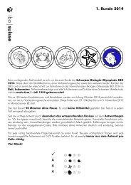 Erste Runde auf Deutsch - Schweizer Biologie Olympiade