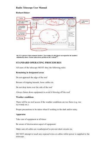 Radio Telescope User Manual STANDARD OPERATING ...