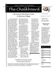 44th Edition April 2007 New Format - Marian University