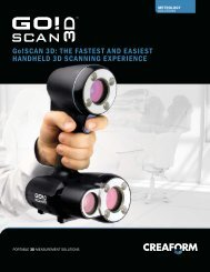 Go!SCAN 3D: THE FASTEST AND EASIEST ... - Creaform