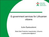 E-government services for Lithuanian citizens - PrivacyOS