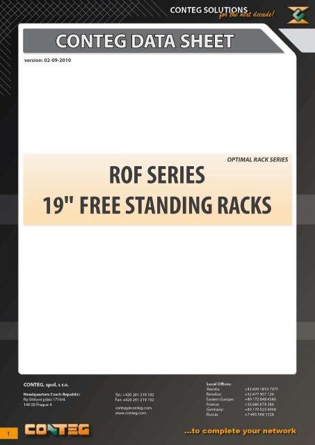 "ROF SERIES 19"" FREE STANDING RACKS - Conteg"