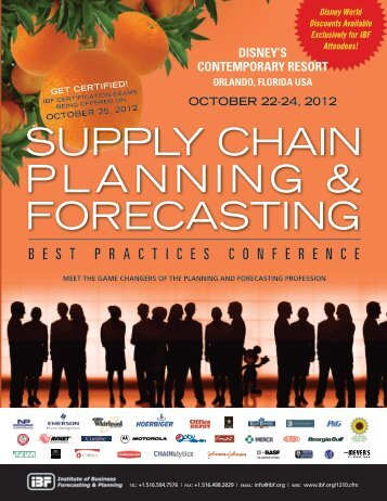 SUPPLY CHAIN PLANNING & FORECASTING