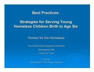 Best Practices: Strategies for Serving Young Homeless Children ...