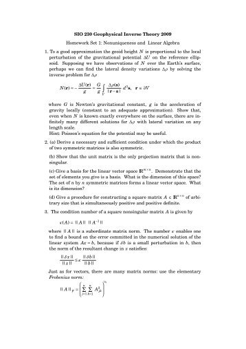 Solutions to Homework Sets 1 and 2 - IGPP