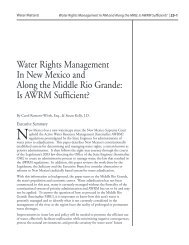 Water Rights Management In New Mexico and Along the Middle Rio ...