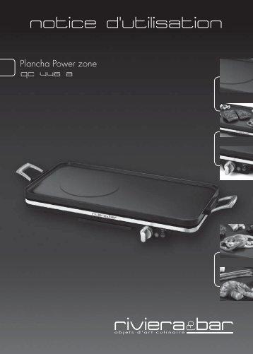 Notice d'utilisation - Plancha Power Zone - QC 446 A - Riviera et Bar