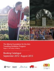 Booking Catalogue September 2012 - Art Gallery of Alberta
