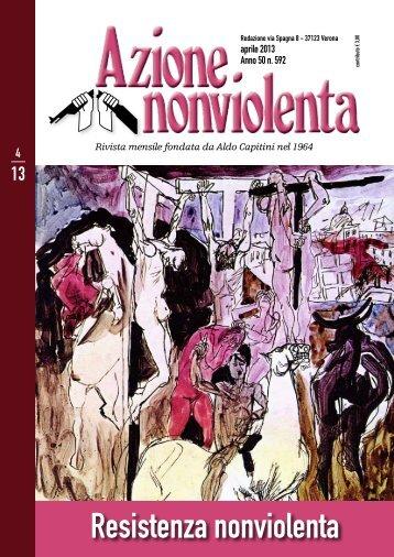 Aprile 2013 - Movimento Nonviolento