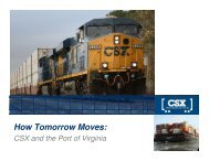 How Tomorrow Moves: - Commonwealth of Virginia