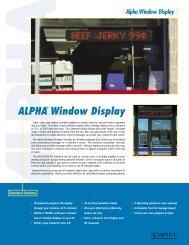 Alpha Window Display - Selectric Signs