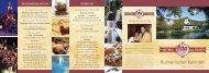 Kulinarischer Kalender 2011 - Hotel Zur Post
