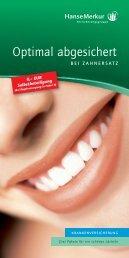 Zahn-Zusatz Flyer 0112-2012 - Zahnzusatzversicherung