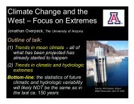 Climate Change and the West – Focus on Extremes