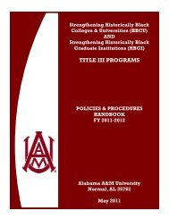 TITLE III PROGRAMS - Alabama A&M University