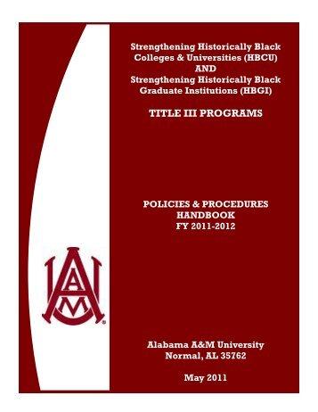 TITLE III PROGRAMS - Alabama A&M University