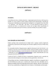 edital carta convite restaurante - Museu da Casa Brasileira
