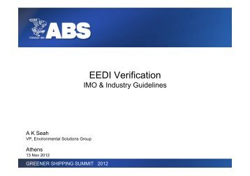Title of Presentation EEDI Verification
