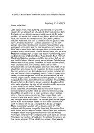 Briefe von Harald Mähl an Marie Clausen und Heinrich ... - a-voss.de