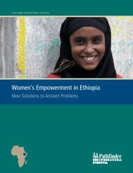 Women's Empowerment in Ethiopia - Pathfinder International