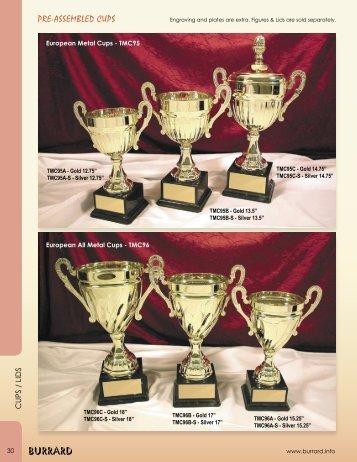 PRE-ASSEMBLED CUPS - Burrard