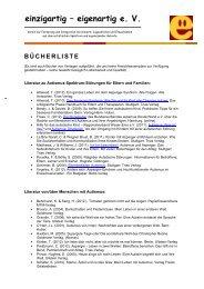Bücherliste - Einzigartig-eigenartig e.V.
