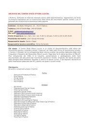 Centro Studi Ettore Luccini - dati informativi