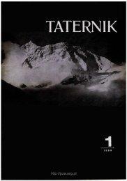 Taternik 1 1980 - Polski Związek Alpinizmu