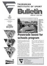 Powerade boost for schools program - Tasmanian Institute of Sport