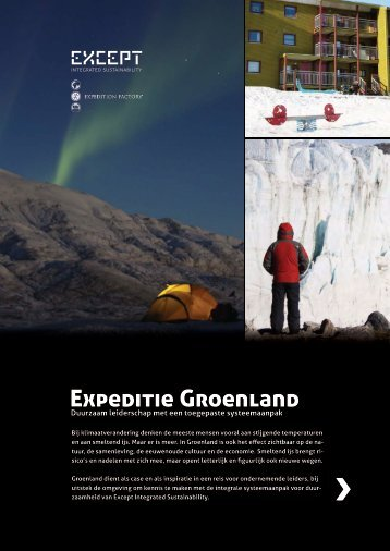 Expeditie Groenland - Except Integrated Sustainability