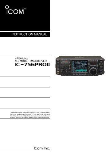 ic-756proii - ICOM Canada
