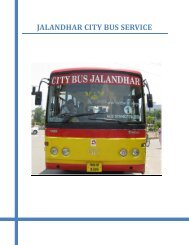 JALANDHAR CITY BUS SERVICE - National Institute of Urban Affairs