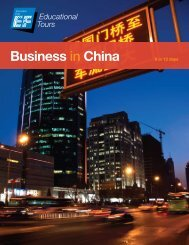 business in china - EF Educational Tours
