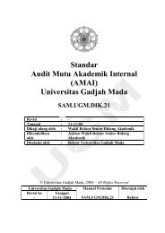 Standar Audit Mutu Akademik Internal - Kantor Jaminan Mutu